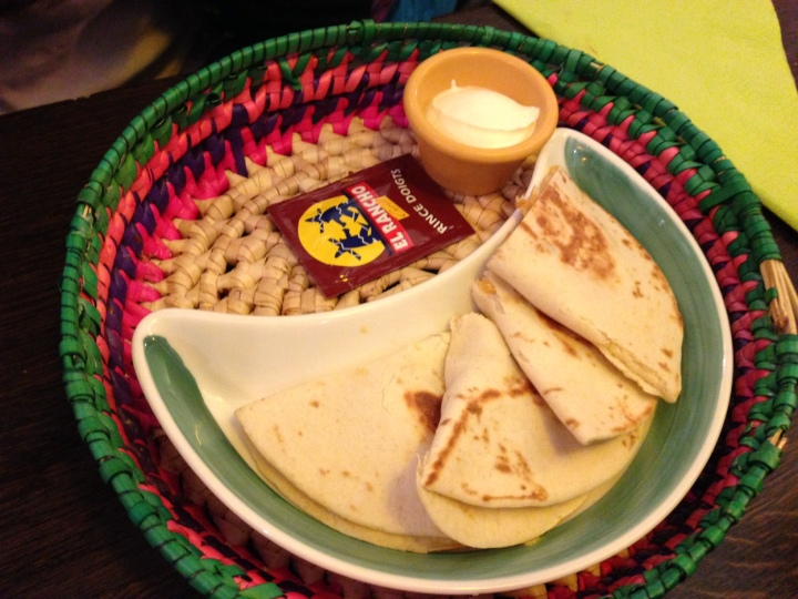 Quesadillas poulet - el rancho - les restos de boulogne