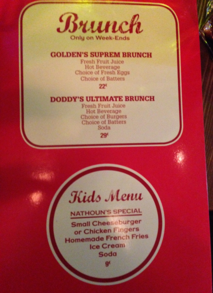 menu brunch doddy's coffee - les restos de boulogne