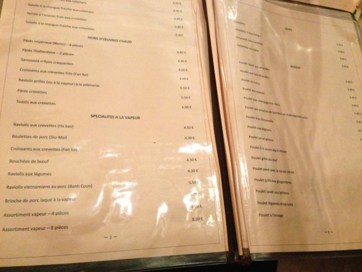 menu ming lung - les restos de boulogne