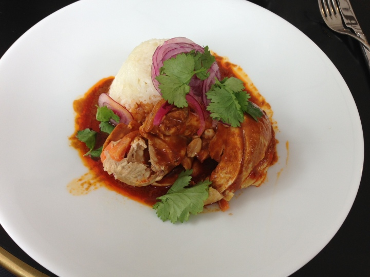 suprême de poulet, Sauce satay, riz basmati - la verrière - les restos de boulogne