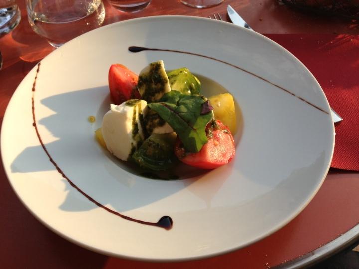 déclinaisons de tomates mozarella di buffala café renaud