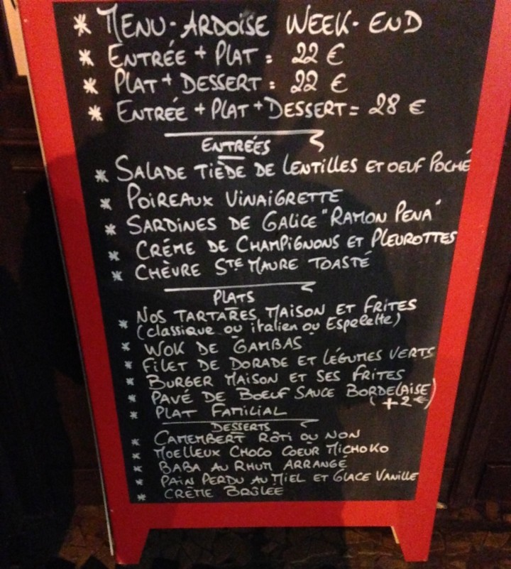 menu 158 Coté Piscine