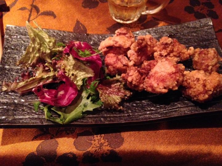 croustillant de poulet parfumé au gingembre et à l'ail - shiki