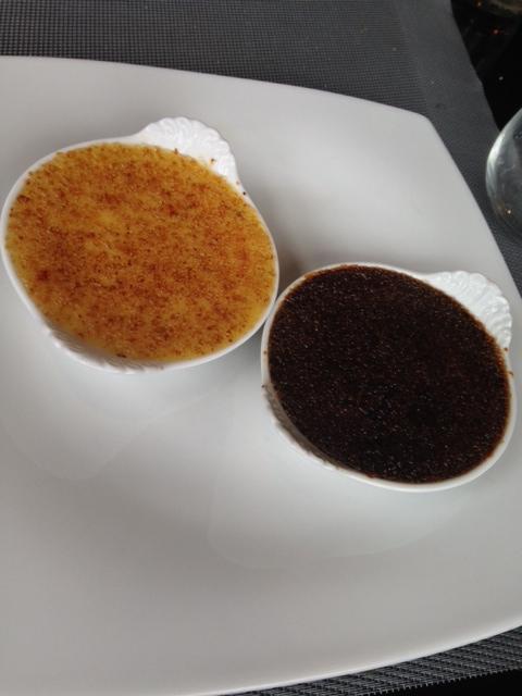 duo de crème brulée - au comte bistrot