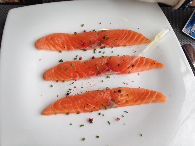 saumon fumé - au comte bistrot