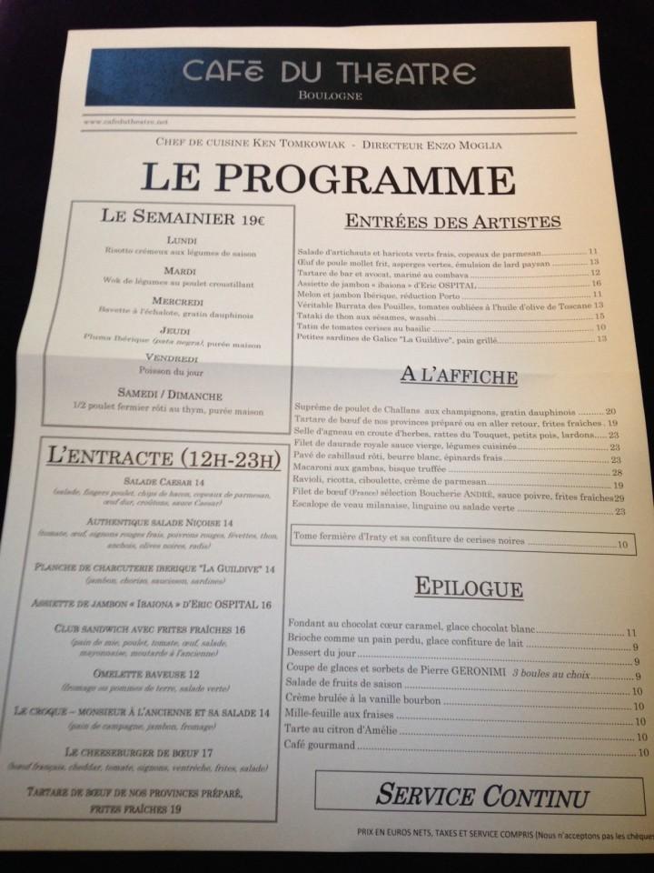 menu café du theatre