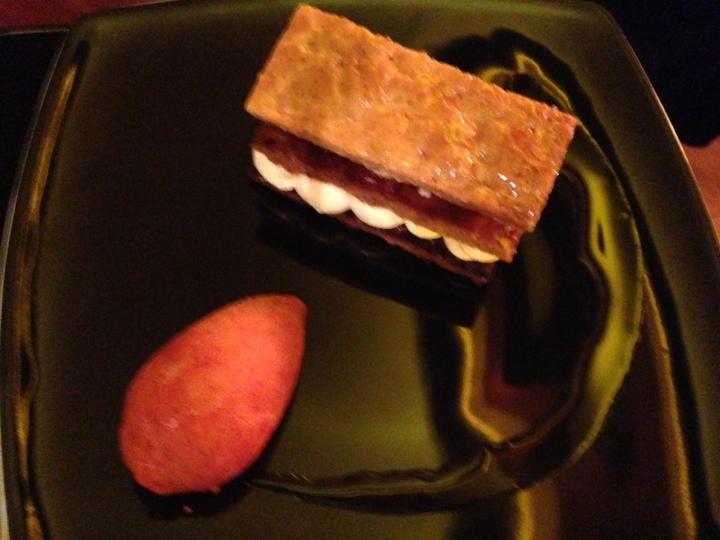 mille feuille aux fraises, café du théatre
