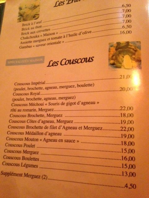 menu restaurant des délices - les restos de boulogne