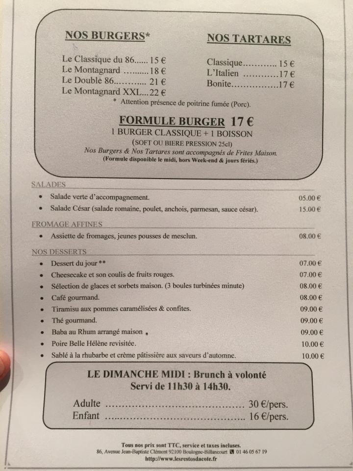 menu coté studio 86 restos de boulogne (2)