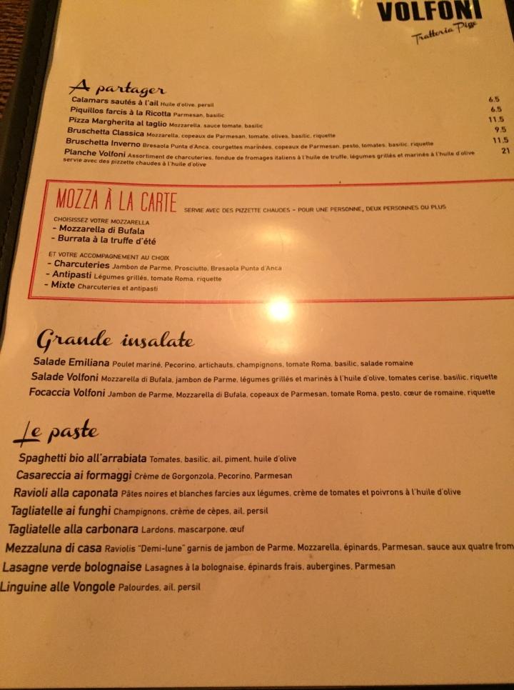 menu volfoni - les restos de boulogne