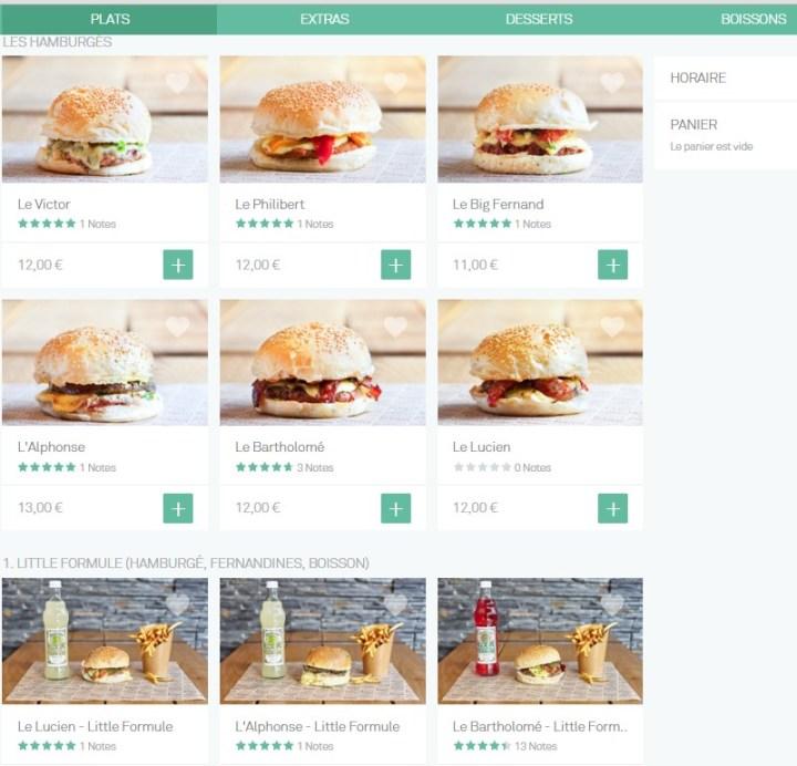 Big fernand choix hamburgé livraison à domicile take eat easy